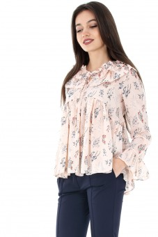 Bluza piersica, ROH, baby doll - BR1743