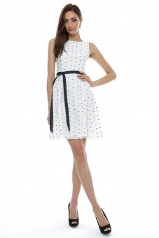 Rochie din bumbac, brodata - DR2508