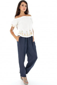 Pantalon bleumarin chic din In - TR184