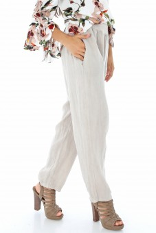 Pantalon crem  chic din In - TR185