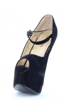 Pantofi Negri Cu Toc I0006