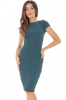 Rochie in dungi, bodycon - ROH - DR3916