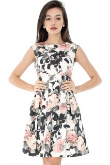 Rochie inflorata,ROH, din bumbac-DR3253