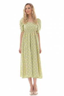 Rochie midi, ROH, lime, vintage style - DR4262